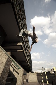 freerun move on the Barbican